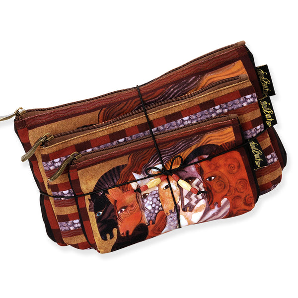 Moroccan Mares Three In One Cosmetic Bag Set