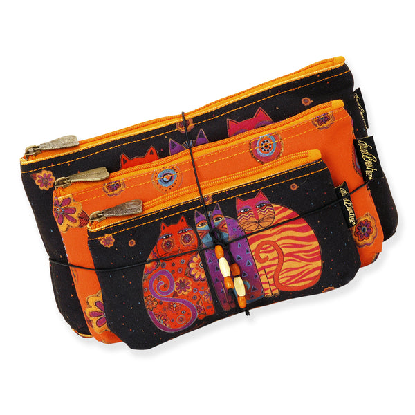 Feline Friends Three In One Cosmetic Bag Set Bags Sun'N'Sand - Laurel Burch Studios