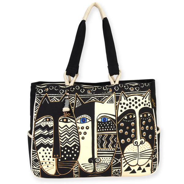 Wild Cat Black & White Oversized Tote