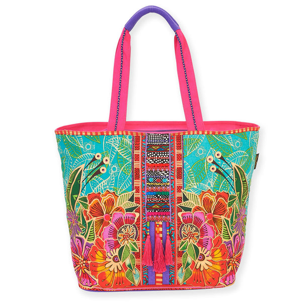 Flora Shoulder Tote Bags Laurel Burch Studios - Laurel Burch Studios
