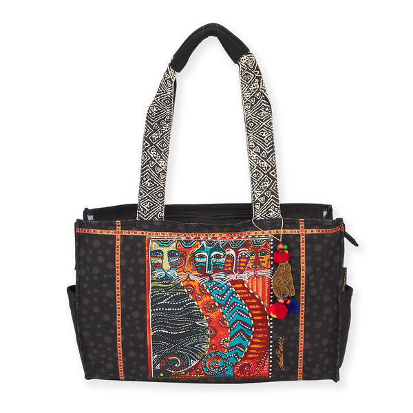 Gatos Medium Tote Bags Sun'N'Sand - Laurel Burch Studios