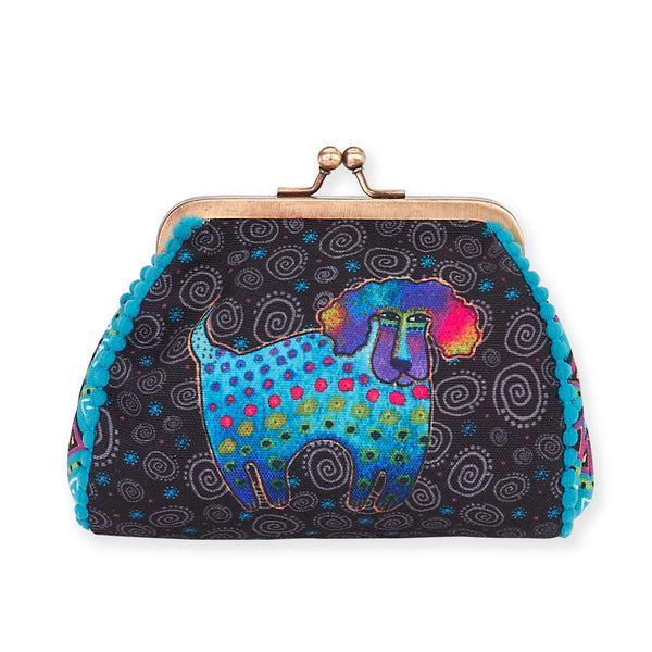 Poodle and Pup Coin Purse Bags Laurel Burch Studios - Laurel Burch Studios
