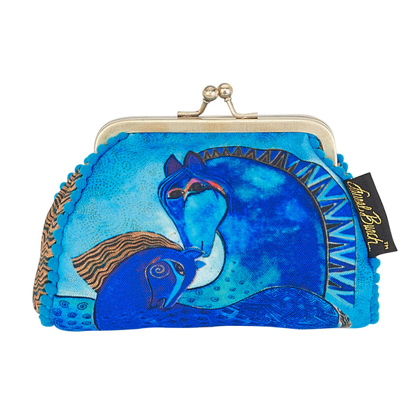 Teal Mares Coin Purse Bags Laurel Burch Studios - Laurel Burch Studios