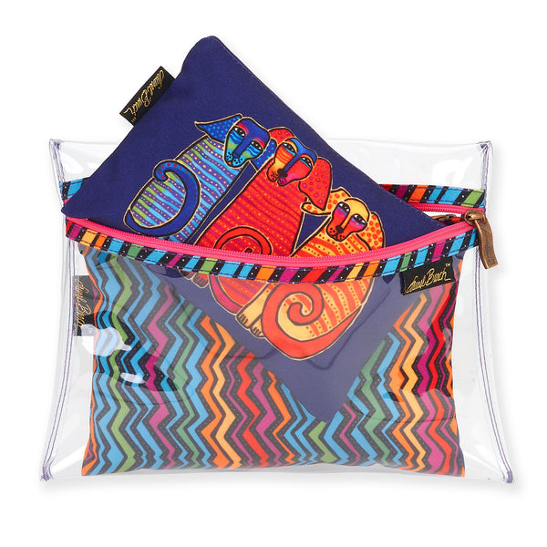 Canine Friends Set of 3 Cosmetic Bags Bags Sun'N'Sand - Laurel Burch Studios