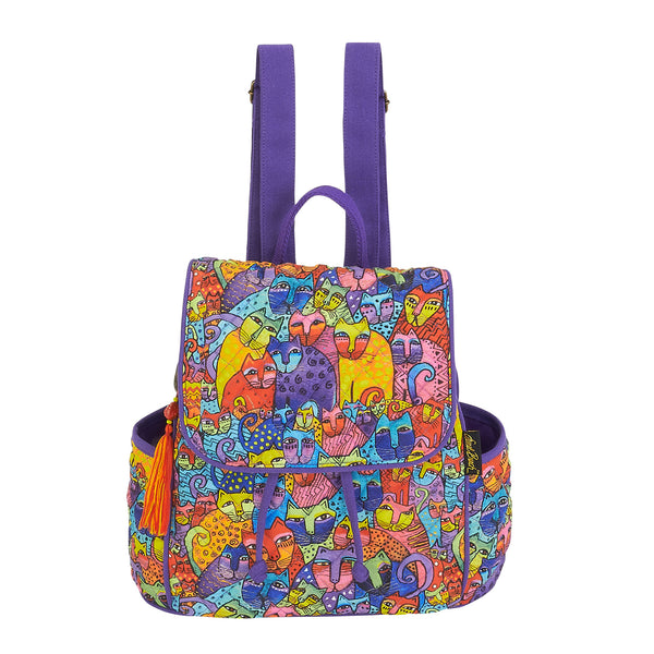 Feline Tribe Quilted Backpack Bags Sun'N'Sand - Laurel Burch Studios