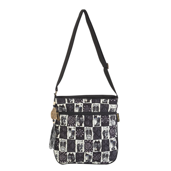e7f283d49ce Black & White Wild Cats Quilted Crossbody Bags Sun'N'Sand - Laurel Burch