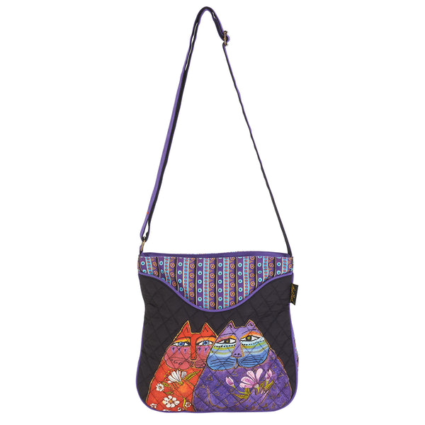 Two Wishes Quilted Cotton Crossbody Bag