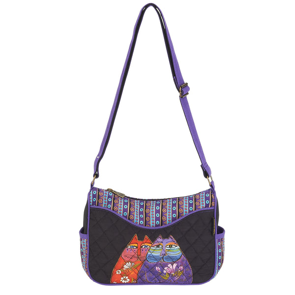 Two Wishes Quilted Cotton Small Crossbody Bag