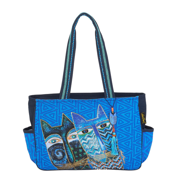 Blue Cats Medium Tote