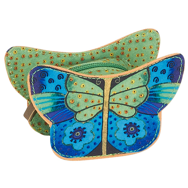 Flutterbyes Coin Purse Green Bags Laurel Burch Studios - Laurel Burch Studios