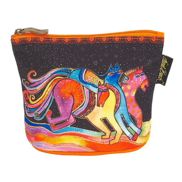 Caballos de Colores Square Cosmetic Bag Bags Laurel Burch Studios - Laurel Burch Studios