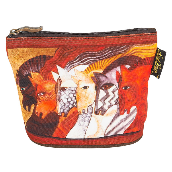 Moroccan Mares Square Coin Purse Bags Laurel Burch Studios - Laurel Burch Studios