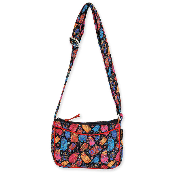 Multi Feline Quilted E/W Crossbody Bag Bags Laurel Burch Studios - Laurel Burch Studios