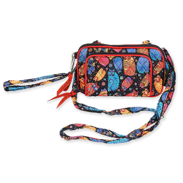 Multi Feline All in One Quilted Crossbody Bag