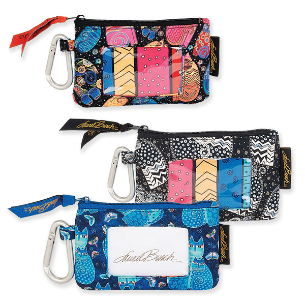 Cats Quilted Carabiner Coin Purse Bags Laurel Burch Studios - Laurel Burch Studios