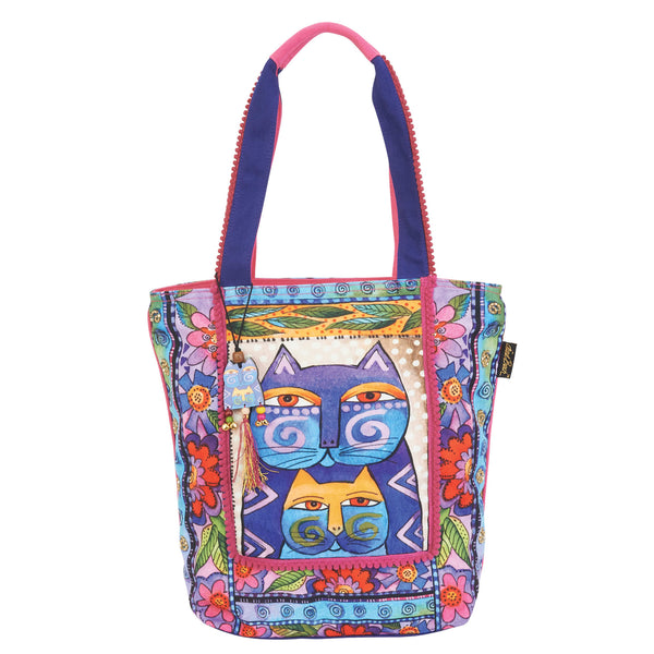 Blossoming Feline Shoulder Tote Bags Laurel Burch Studios - Laurel Burch Studios