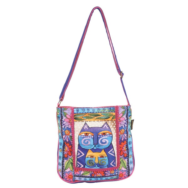 Stacked Felines Crossbody Bags Sun'N'Sand - Laurel Burch Studios