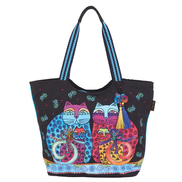 Feline Set Scoop Tote Bags Laurel Burch Studios - Laurel Burch Studios