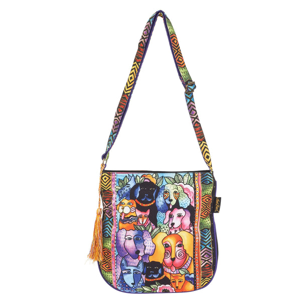 Canine Clan Stacked Crossbody Bags Sun'N'Sand - Laurel Burch Studios