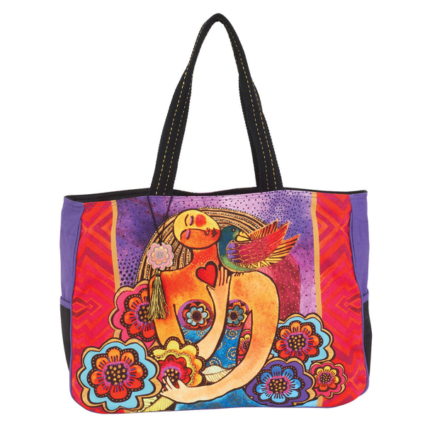 Light of your Life Oversized Tote Bags Sun'N'Sand - Laurel Burch Studios