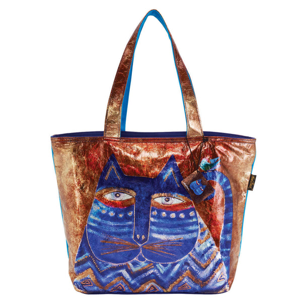 Azul Foiled Canvas Shoulder Tote