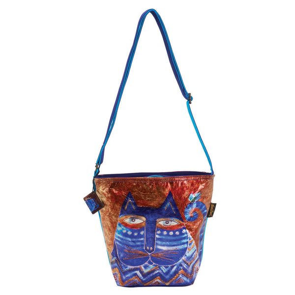 Azul Foiled Canvas Crossbody