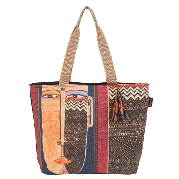 Celebrating Humankind Shoulder Tote Bags Sun'N'Sand - Laurel Burch Studios
