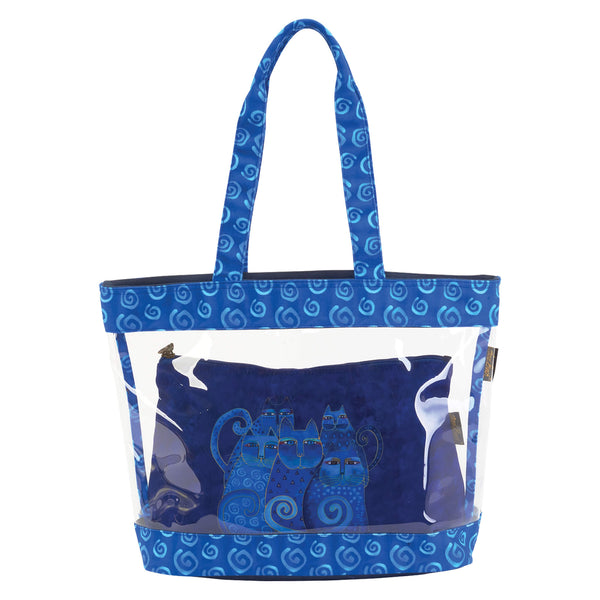 Indigo Cats Clear Travel Tote Bags Sun'N'Sand - Laurel Burch Studios
