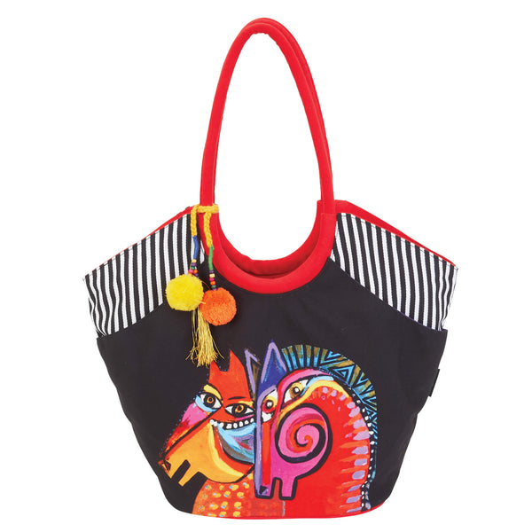 Caravan of Friends Horse Scoop Tote Bags Sun'N'Sand - Laurel Burch Studios