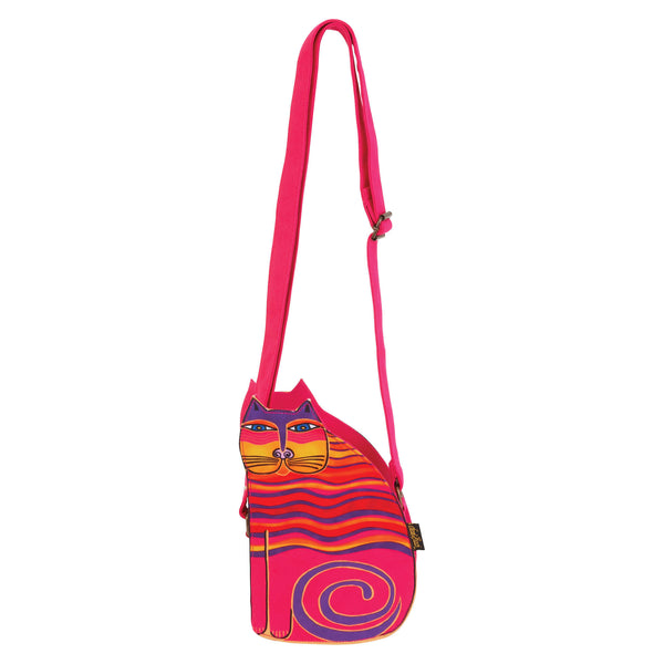 Rainbow Cat Cutout Crossbody Bags Sun'N'Sand - Laurel Burch Studios