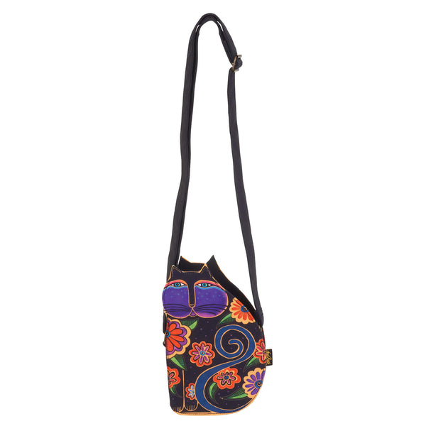 Flowering Cat Cutout Crossbody Bags Sun'N'Sand - Laurel Burch Studios