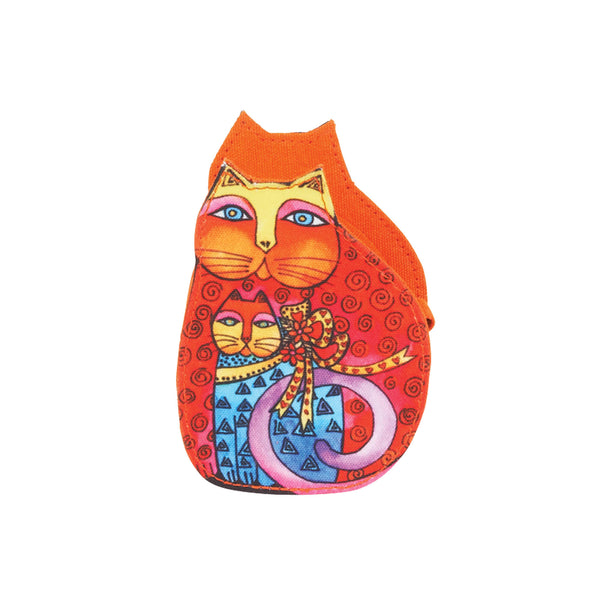 Mother and Daughter in Flowers Orange Coin Purse Bags Laurel Burch Studios - Laurel Burch Studios