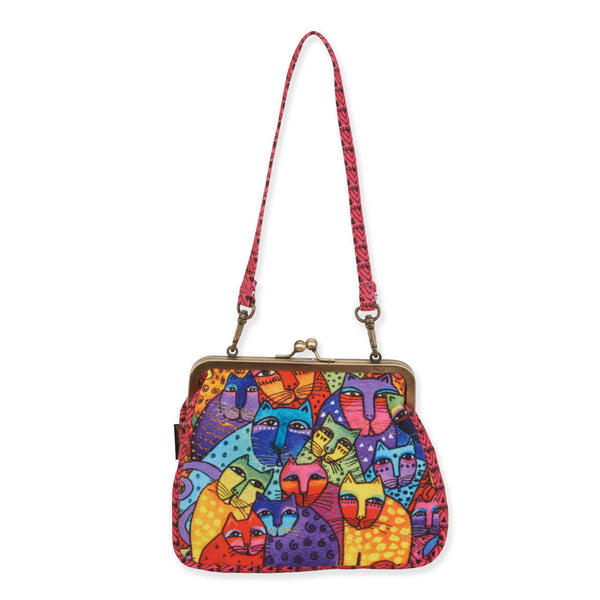 Feline Tribe Medium Clasp Purse Bags Sun'N'Sand - Laurel Burch Studios