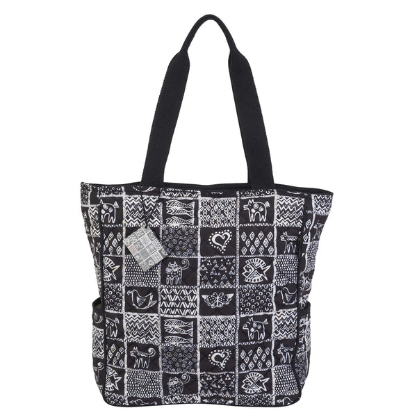 Quilted Cotton Shoulder Tote Bags Laurel Burch Studios - Laurel Burch Studios