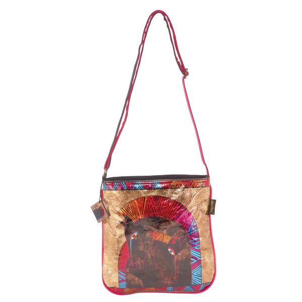 Embracing Horses Foiled Canvas Crossbody Bags Sun'N'Sand - Laurel Burch Studios
