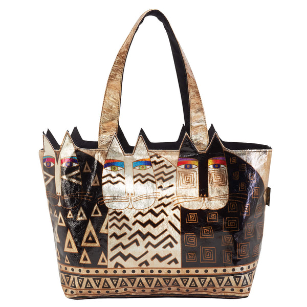 Foiled Canvas Wild Cats Bags Sun'N'Sand - Laurel Burch Studios