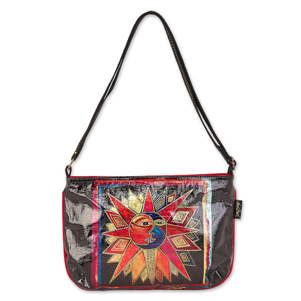 Sun Moon Star Dance Foiled Canvas E/W Crossbody