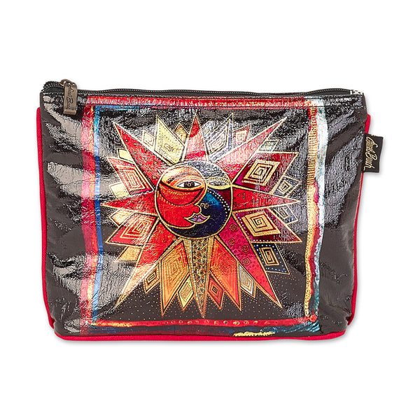 Sun Moon Star Dance Foiled Canvas Cosmetic Bag