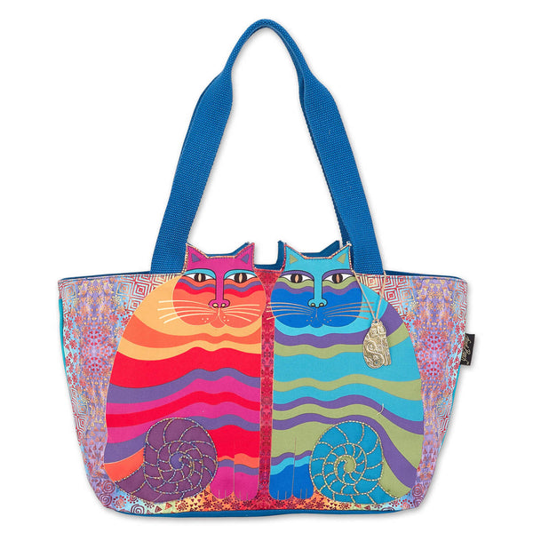 Rainbow Felines Large Cutout Tote