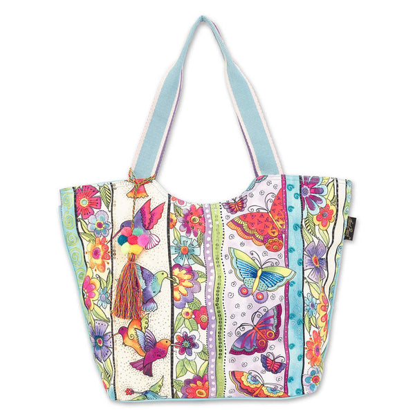 Butterfly Floral Shoulder Tote