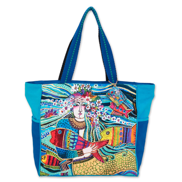 Mermaid Mural Shoulder Tote