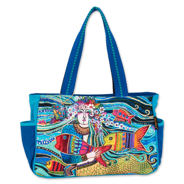 Mermaid Mural Medium Tote