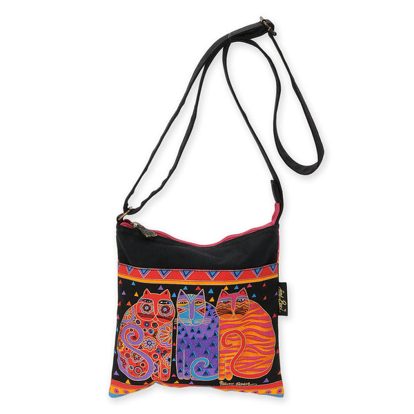 Feline Friends Crossbody Bag Bags Sun'N'Sand - Laurel Burch Studios