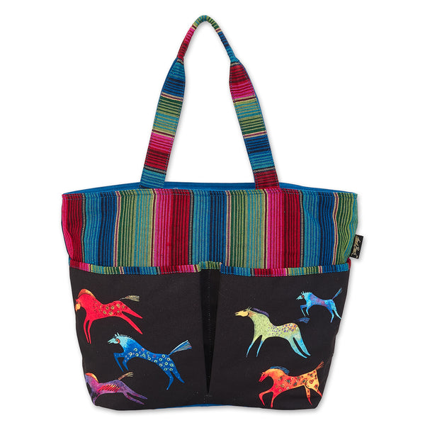 Dancing Horses Shoulder Tote