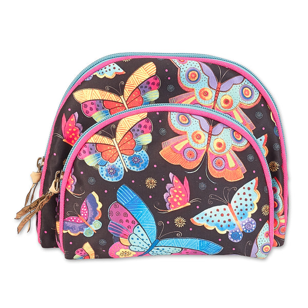 Flutterbyes 2 in 1 Cosmetic Bags