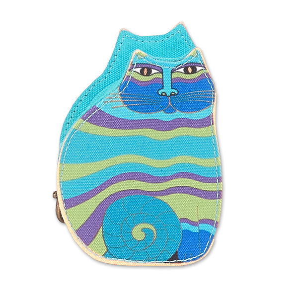 Blue Rainbow Feline Coin Purse