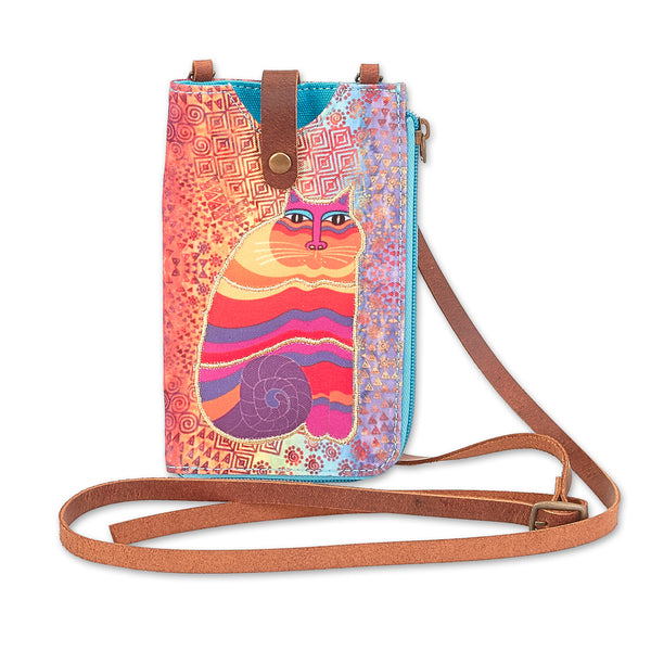 Rainbow Feline Phone Storage Crossbody