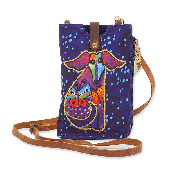 Dog and Butterflies Phone Storage Crossbody
