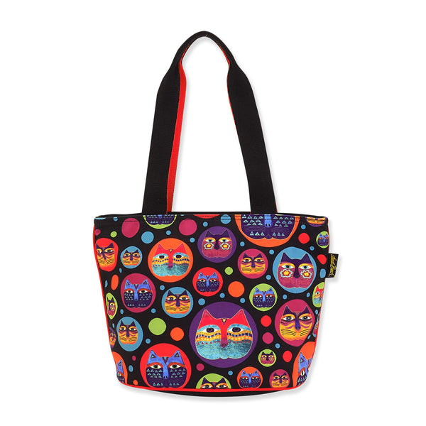 Feline Faces Shoulder Tote - Medium