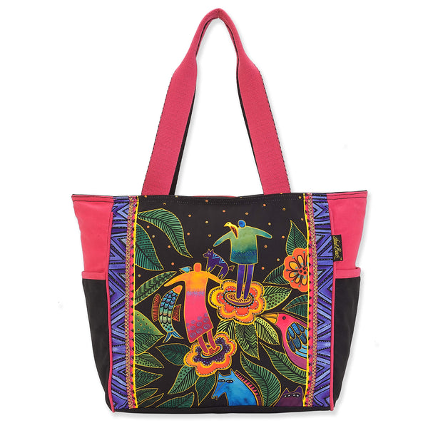 Spirits in Bloom Shoulder Tote - Large